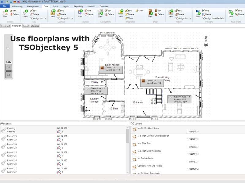 floorplan key management